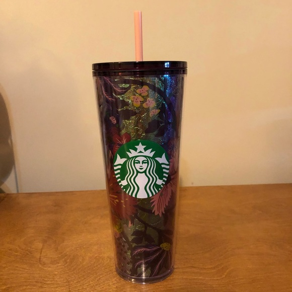 Starbucks Fall Foil Floral Tumbler